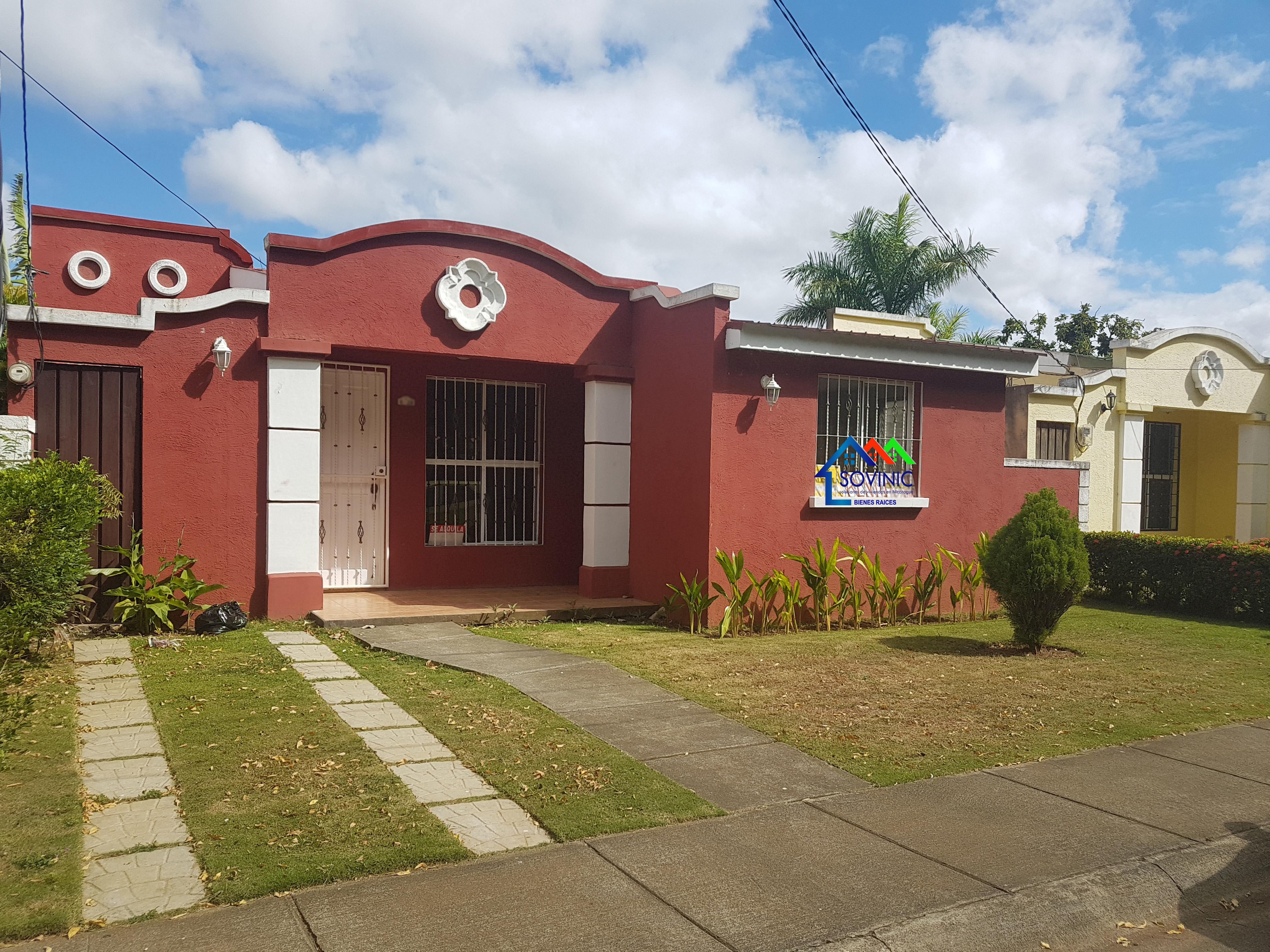 Renta de casa en Residencial Km 17 carretera Masaya